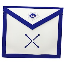 Masonic Officer Apron Royal Blue  - Individual