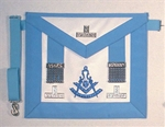 Massachusetts's Past Master Apron with Metal side tabs & Taus