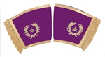 Grand Officer Purple Velvet Cuffs metallic thread